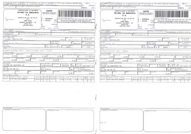 Notas fiscais de um dos produtores mostram grandes valores que já deveriam ter sido pagos desde setembro.