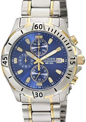 Citizen Men's Two-Tone Stainless Steel Chronograph Watch – AN3394-59L