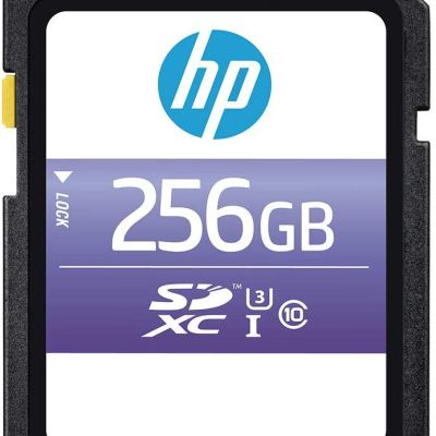 HP 256GB SX330 Class 10 U3 SDXC Flash Memory Card, Read Speeds up to 95MB/S (HFSH256-1U3)