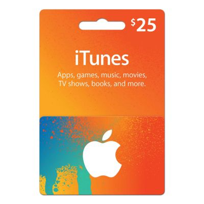 iTunes $25 Gift Card – Digital Delivery