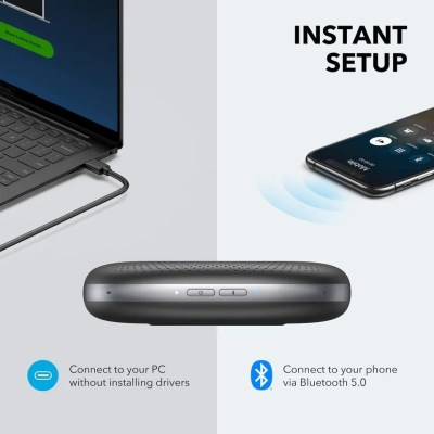 Anker PowerConf Bluetooth Speakerphone with 6 Microphones