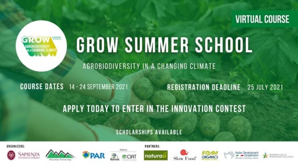 2021年『Grow暑期學校Grow Summer School-氣候變遷中的農業生物多樣性』課程,開始報名了喔