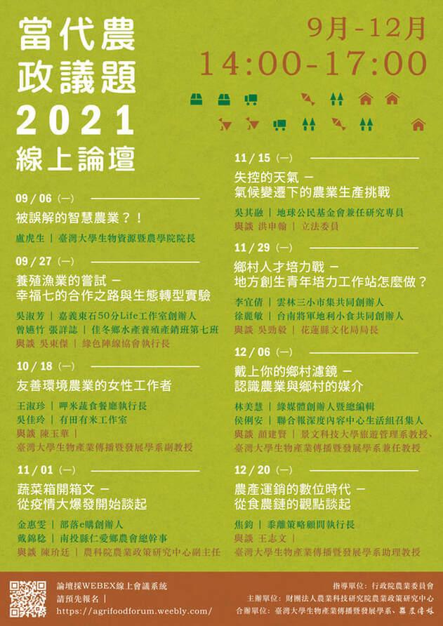 2021當代台灣農政議題論壇