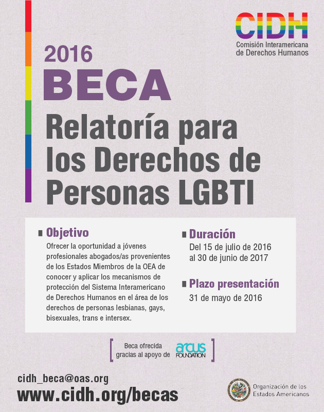 Beca sobre Derechos de Personas LGBTI