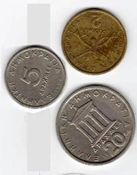 Grecia, 3 monete Dracme