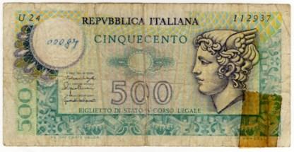Italia 500 Lire 1979