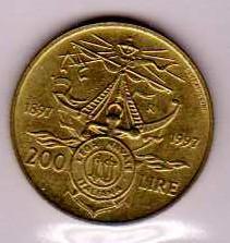 Italia 200 lire lega navale italiana - 1997