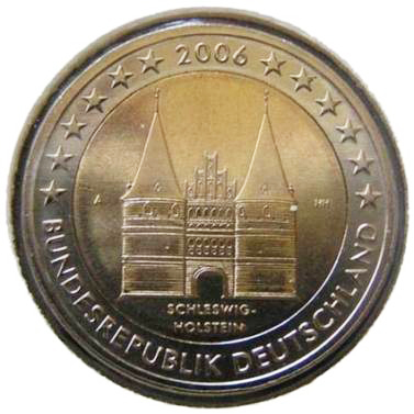 Germania 2 euro Schlewig-Holstein 2006