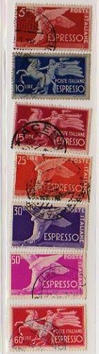 Democratica filigrana ruota, espressi, 1945-1951