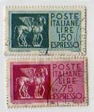 Cavalli alati carta normale, espressi, 1958-1966