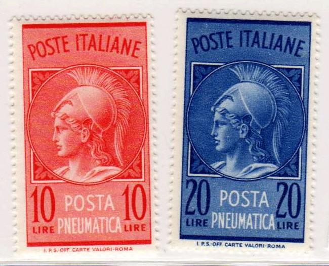 Testa di Minerva, posta pneumatica, 1958 - 1966