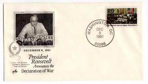 U.S.A. busta F.D.C. - 08/12/1991