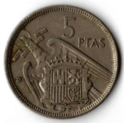 SPAGNA 5 PESETAS - 1975