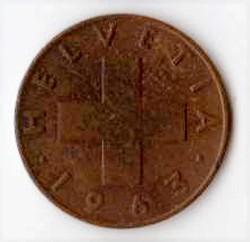Svizzera 1 centesimo - 1963