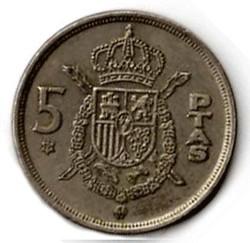 SPAGNA 5 PESETAS - 1957