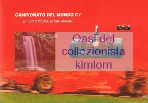 Campionato del mondo F.1 20° gran premio di San Marino