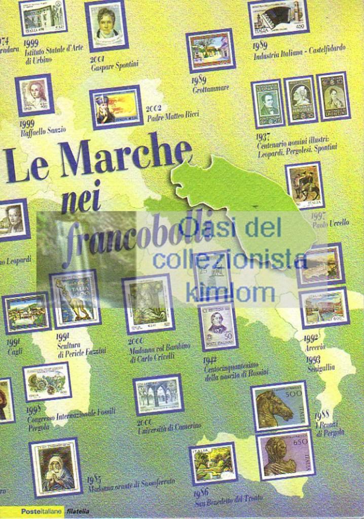 folder - Le Marche nei francobolli