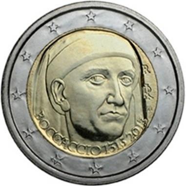 Italia 2 Euro 700° Anniversario nascita Boccaccio