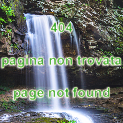 404 Pagina non trovata