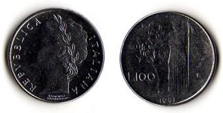 Italia 100 lire mini 1995