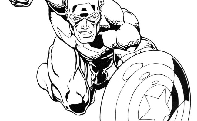 Superheroes Marvel Coloring Pages Cute766