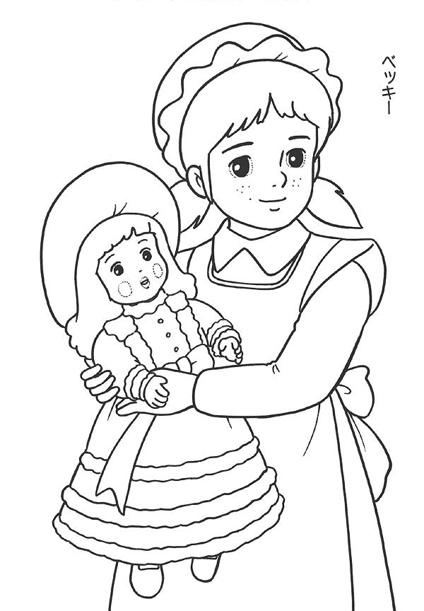 Little Princess Sarah Coloring Pages