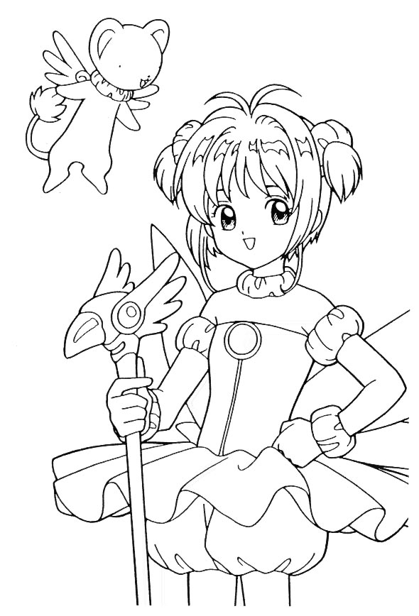 CARDCAPTORS COLORING BOOK « Free Coloring Pages