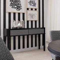 Black Leather Living Room Decoration Design Geometric Patterns Triumph Dining | Oasis Rooms ...