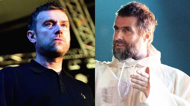 Damon Albarn and Liam Gallagher