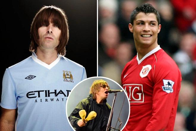 Liam Gallagher, Cristiano Ronaldo