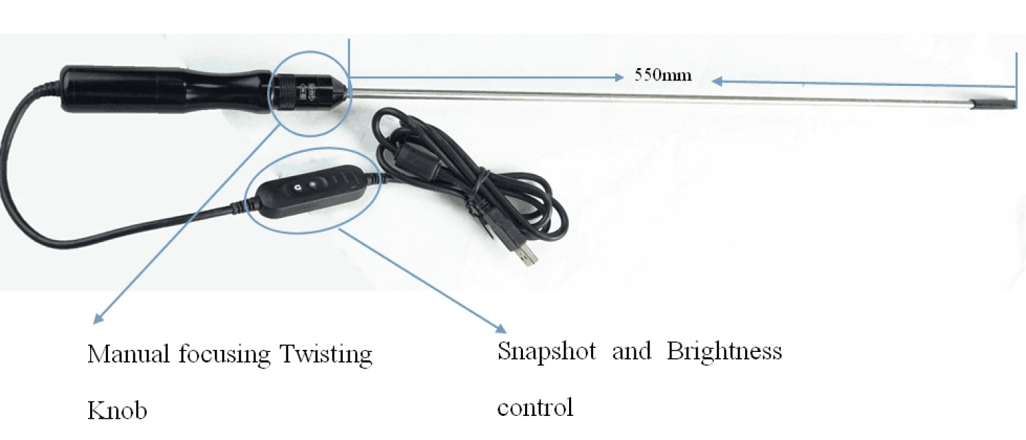 Vividia 8.5mm USB Handheld Endoscope with Manual Focus