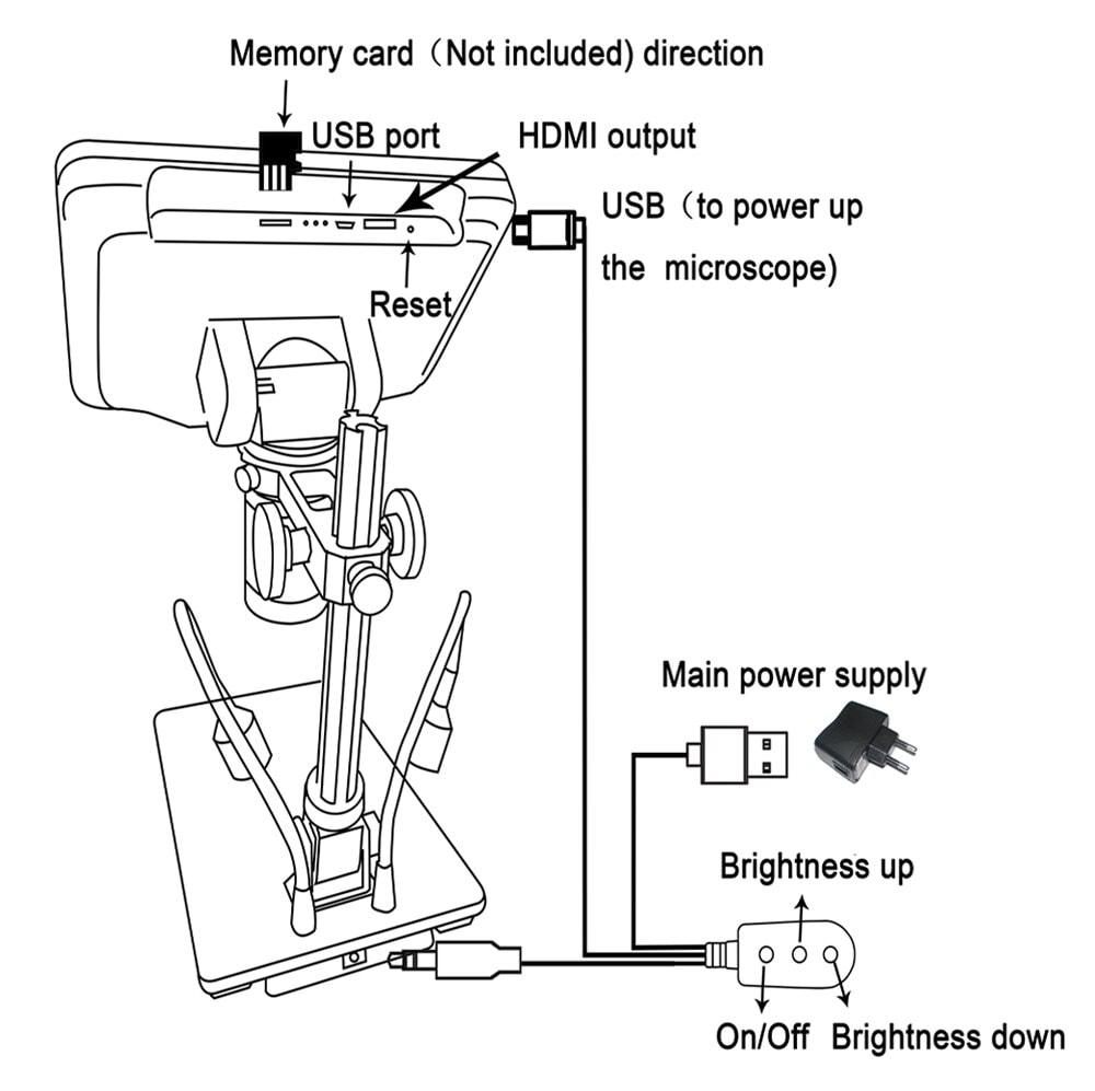 Vividia HDMI/LCD microscope HM-302