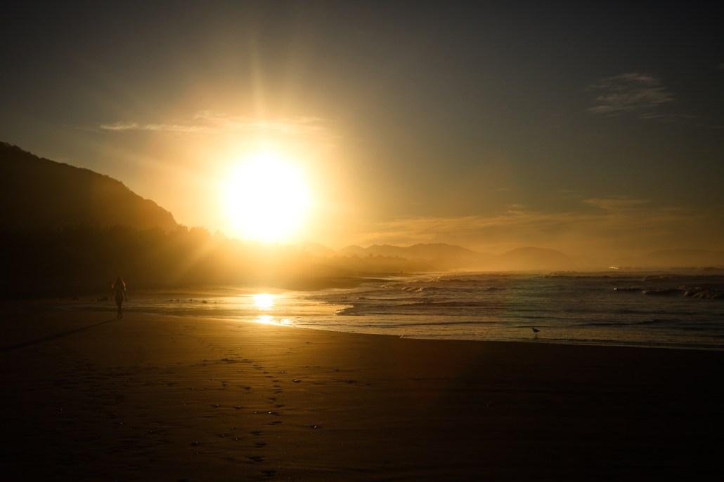 Empty Troncones beach at dawn