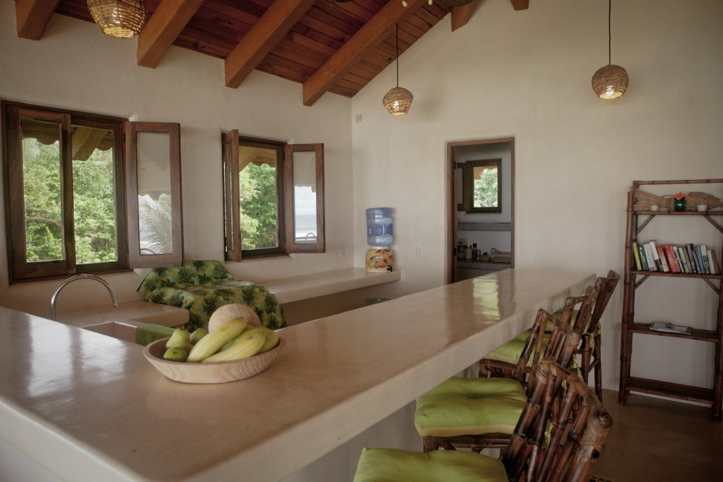 Casa Oasis Troncones beachfront vacation rental beachfront Penthouse open-air roofed kitchen, bar, and pantry