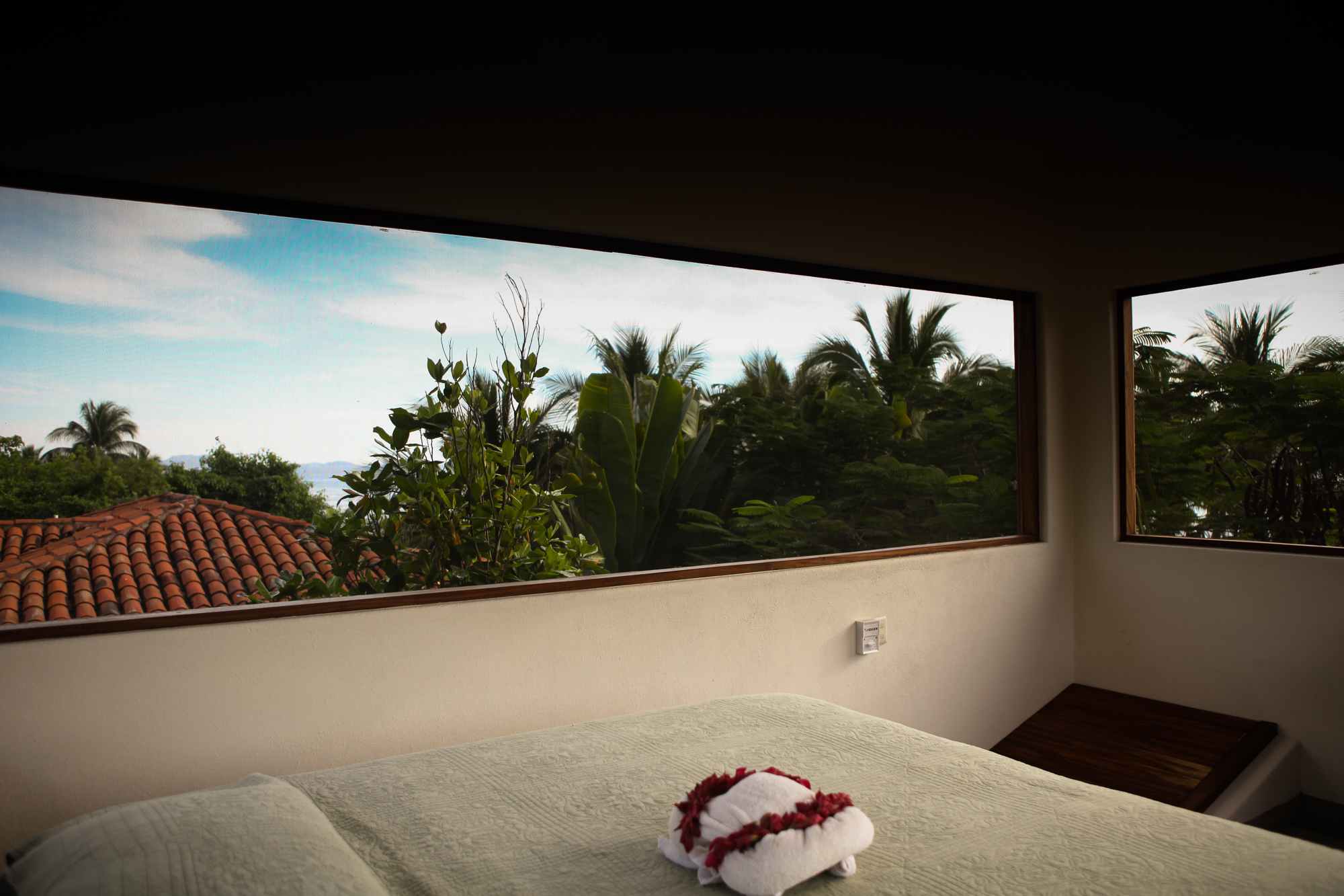 Casa Oasis Troncones vacation rental Treehouse crow's nest bedroom with 360° views