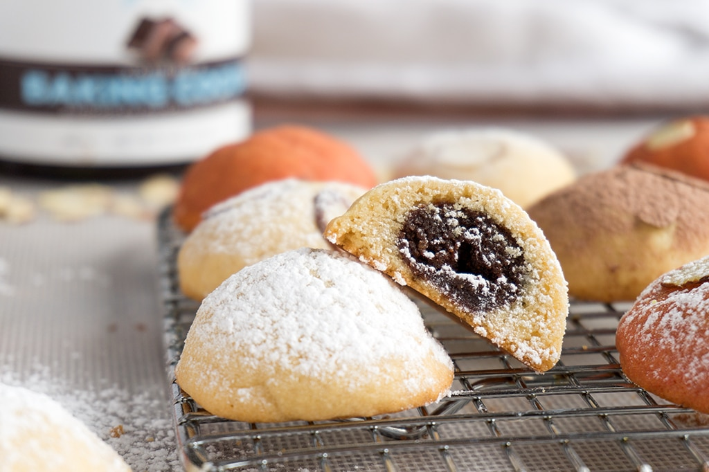 Chocolate Almond Pillow Cookies  OatSesame