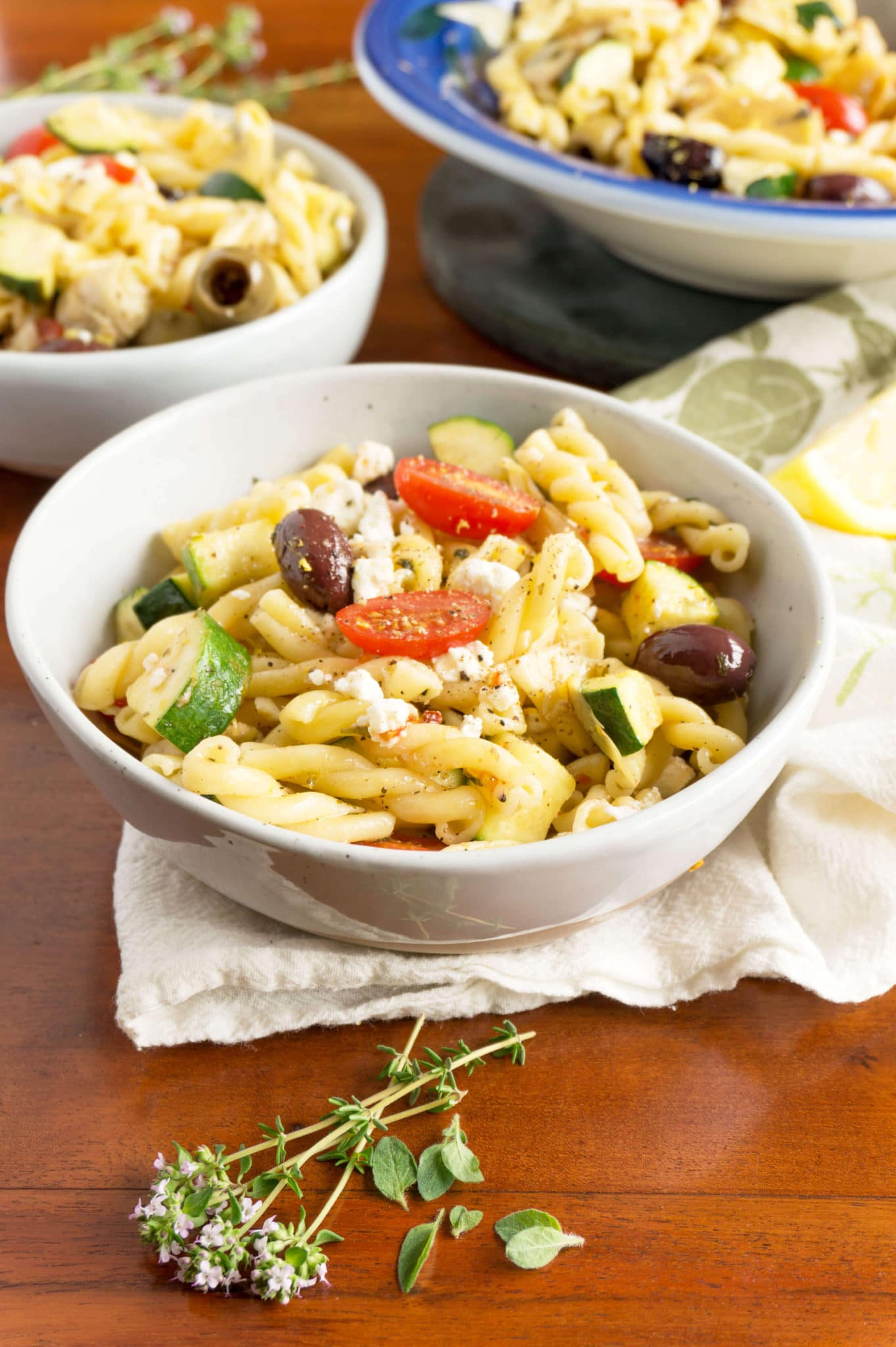 Pasta in bowls