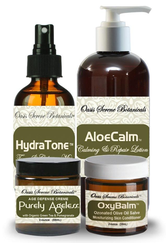 Oasis Serene Botanicals Anti-Aging Skincare Package
