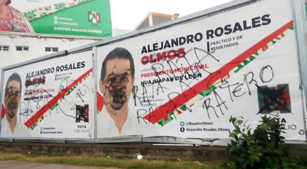 Denuncia candidato del PRI violencia política en Huajuapan