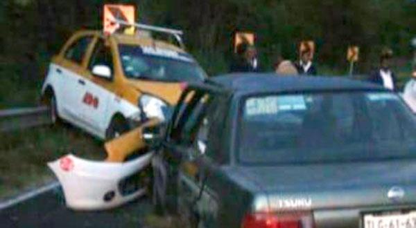 Chocan particular y taxi en Huajuapan