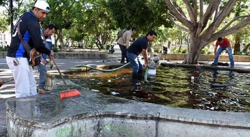 Realizan acciones de embellecimientoen espacios públicos de la ciudad