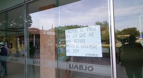 Sobre la toma de oficinas en la UABJO