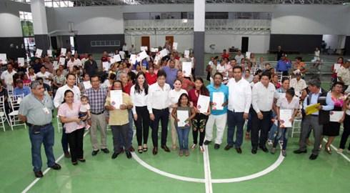 95 familias obtuvieron sus escrituras gratuitas