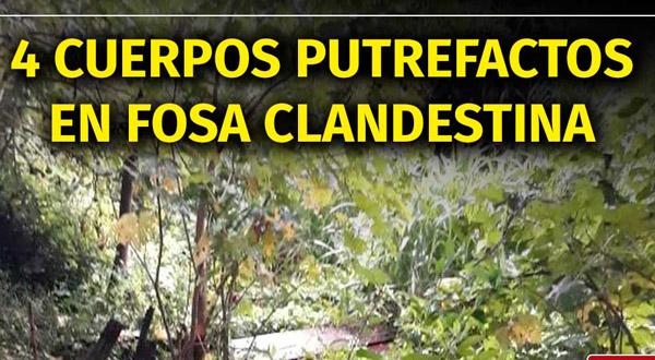 Hallan fosa clandestina con restos humanos en Zanatepec