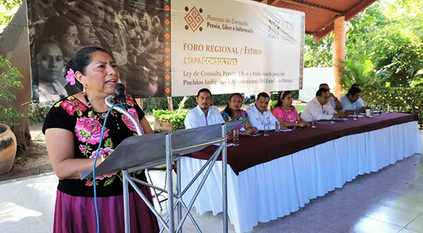 Preside Gloria Sánchez foro regional consultivo en el Istmo de Tehuantepec