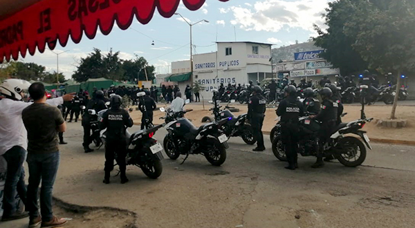 Policía Municipal y Guardia Nacional decomisan pirotecnia en Oaxaca de Juárez