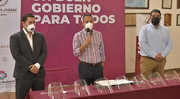 Recibe Ayuntamiento de Oaxaca donación de caretas de Grupo Modelo ante COVID-19