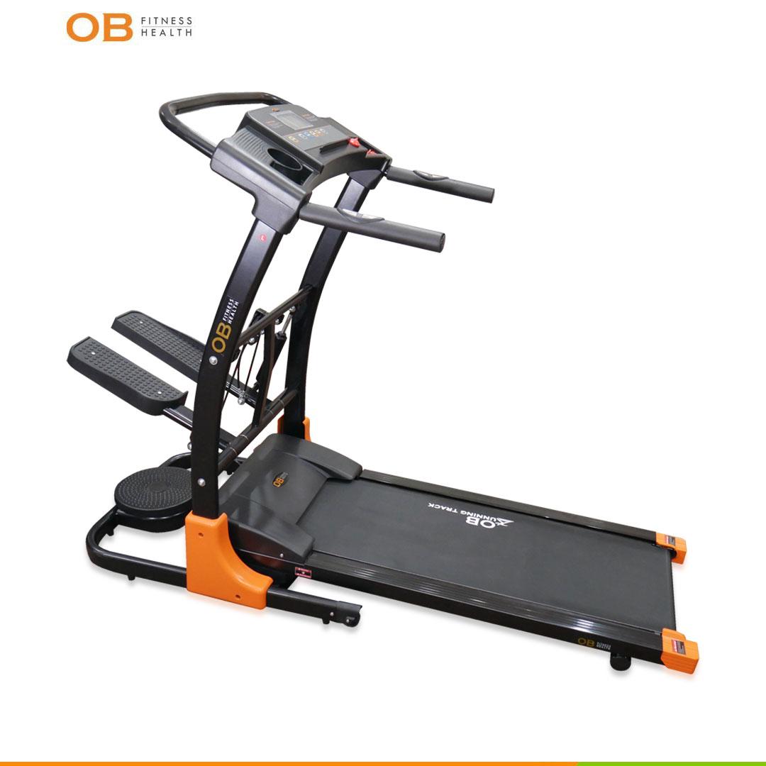 Electric Treadmill Lipat OB-1059 Multifungsi with Stepper Low Wattage