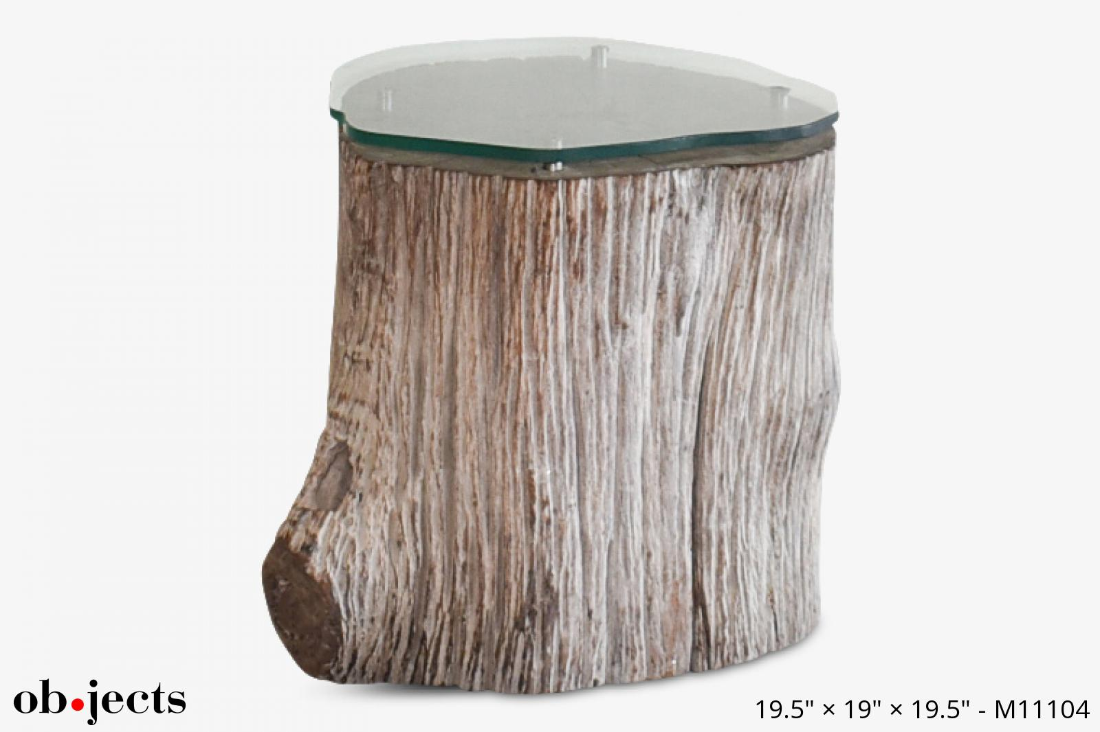 table tree stump w glass top ob jects