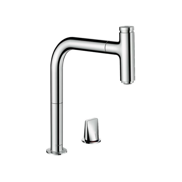 hansgrohe metris select m7119 h200 kitchen faucet 73804000 chrome 2 holes pull out spout with sbox